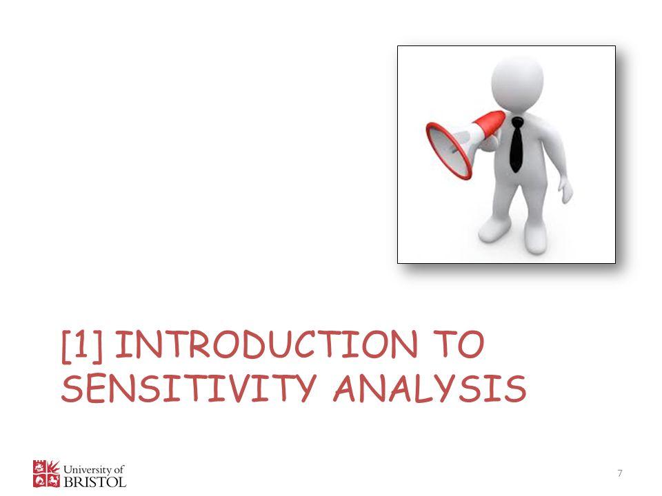 [1] Introduction to sensitivity analysis
